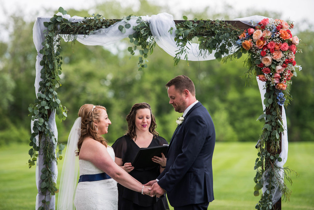 By adding an arch or chuppah, you can customize your big day in an even bigger way