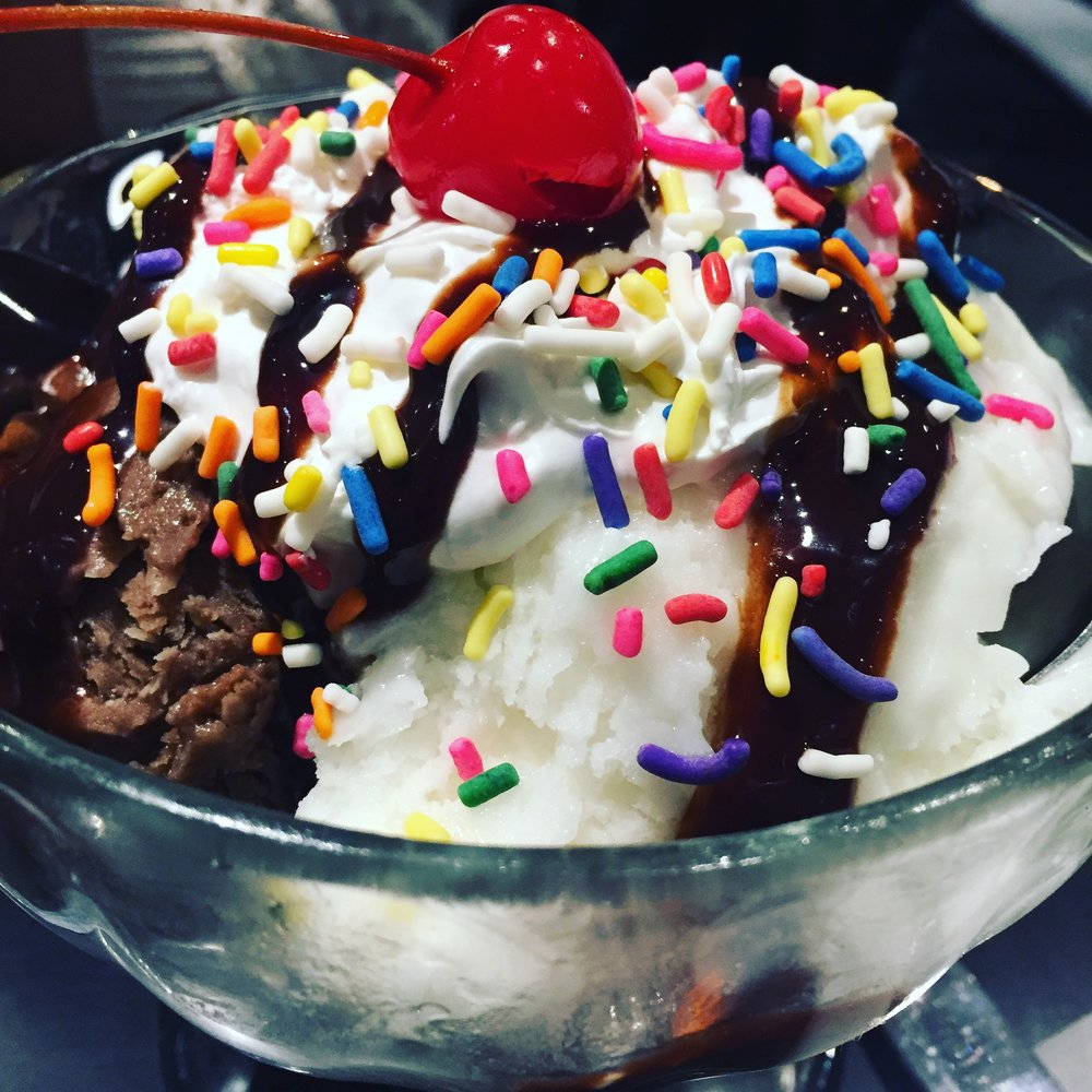 Vegan Ice Cream Sundae!