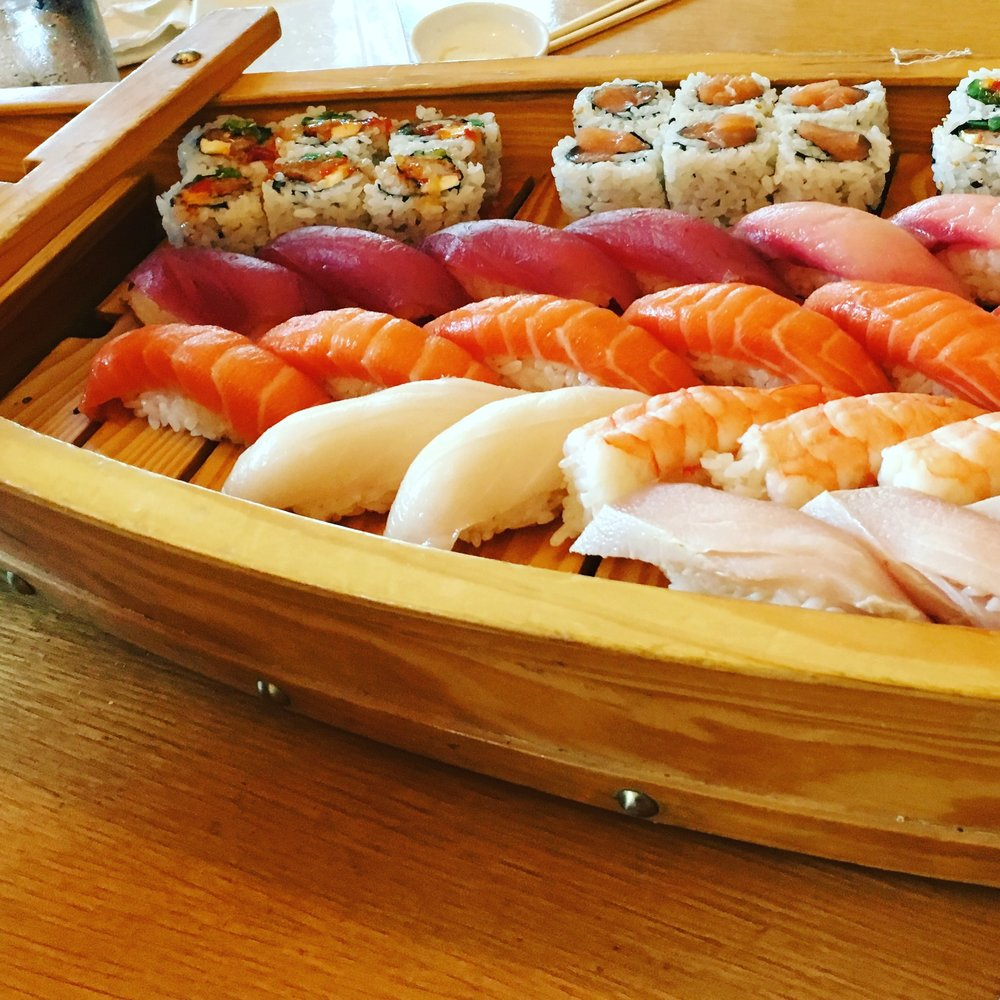 Dad's Birthday Sushi Boat!