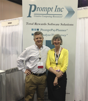 One of our clients, Russ Philips from Pier 1, stopped by the booth!
