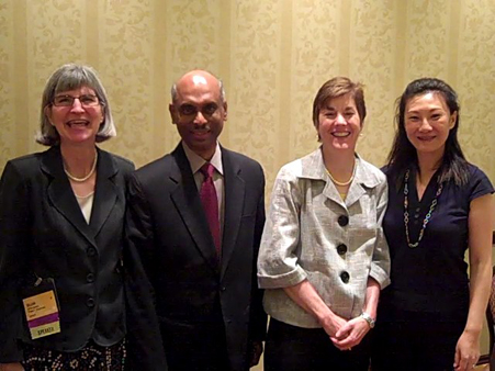 Our President, Gillian Oechslin, with her fellow speakers taking a  much needed rest after their session at WorldAtWork 2010.