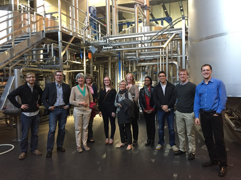 Friends and clients of Prompt Inc. enjoyed a well-earned tour and delicious dinner at Surly Brewing Co. after the show.