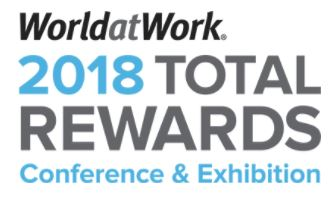 2018 Worldatwork Total rewards conference - May 21-23 in Dallas, TX.