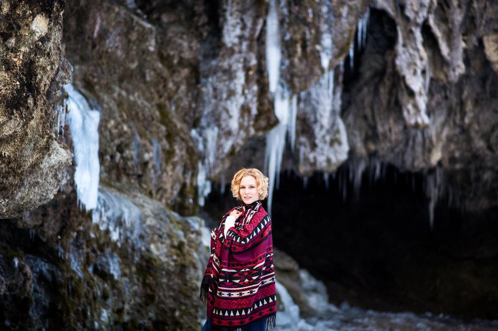 Portraits in Schnee und Eis - Fabienne und ich trafen uns am wohl kältesten Wintertag um Portraits zu fotografieren.
