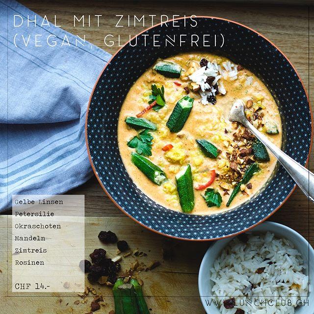 """Nomen est omen bei unserem Lunch der Woche: """"Dal"""" ist nämlich indisch und heisst """"Linse"""" - und davon hat es viele in unserem proteinreichen **Dhal mit Zimtreis** #dhalmitzimtreis #healthyhabits #gesundessen #lunchclub #zürich #züri #tsüri #vegetarisch #veggies #gemüse #vegetarian #frischgekocht #ohnezusatzstoffe #abwechslungsreich"""