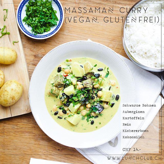 Kartoffeln und Curry? Aber klar passt das! Probiert die Kombi in unserem **Massaman Curry** #massamancurry #healthyhabits #gesundessen #lunchclub #zürich #züri #tsüri #vegetarisch #veggies #gemüse #vegetarian #frischgekocht #ohnezusatzstoffe #abwechslungsreich