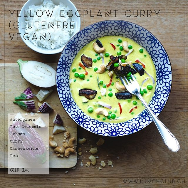 Don't worry, eat curry! Vergiss deine Sorgen beim Genuss unseres **Yellow Eggplant Curry** #yelloweggplantcurry #healthyhabits #gesundessen #lunchclub #zürich #züri #tsüri #vegetarisch #veggies #gemüse #vegetarian #frischgekocht #ohnezusatzstoffe #abwechslungsreich