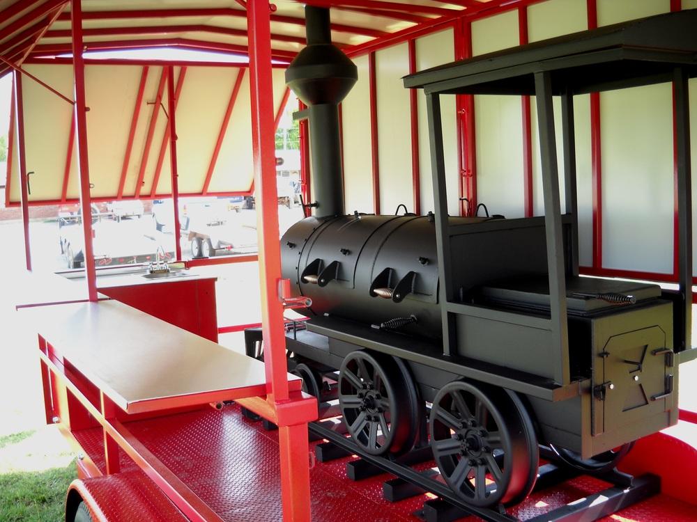 Custom Train Smoker Trailer