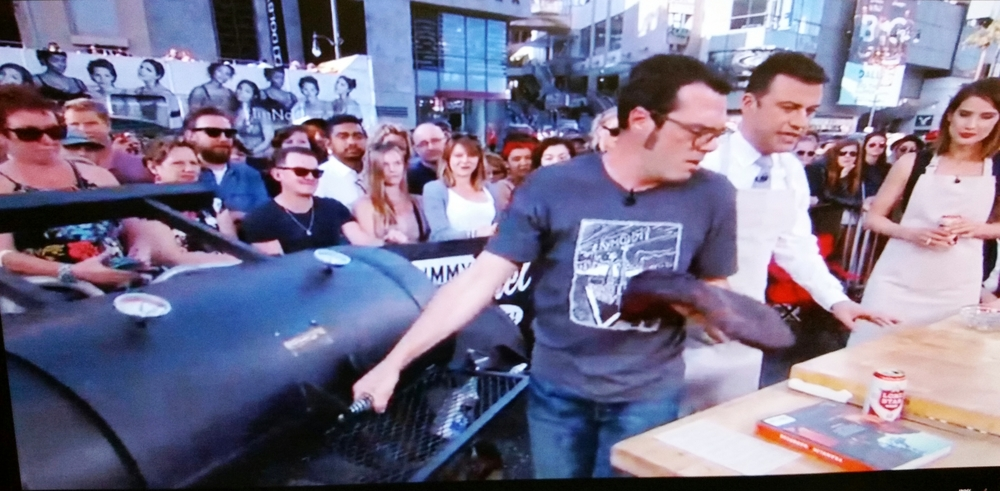 Aaron Franklin on Kimmel w Horizon.JPG