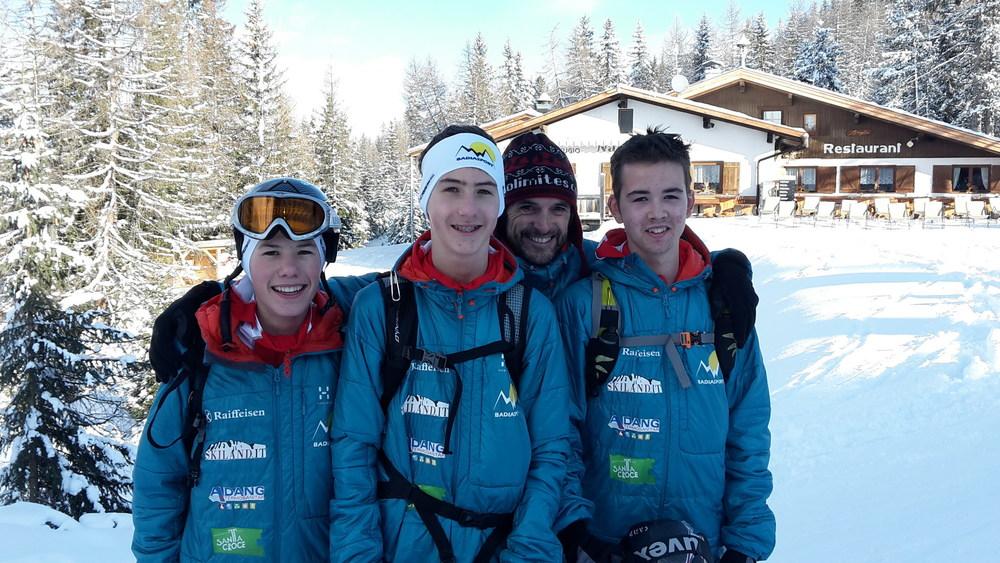 Nicolas, Luigi, Daniele e Ivan durante il Tour de Sas 2015 - Campionato Italiano Giovani