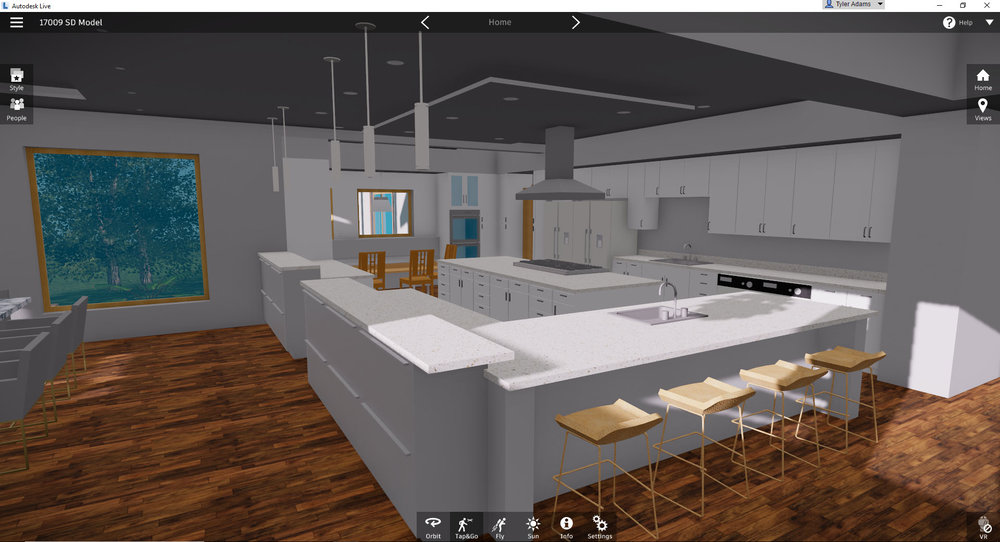 Screenshot from Autodesk Live of a current project