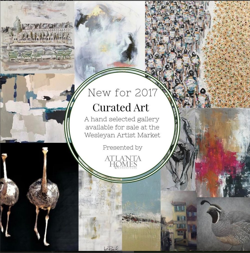 Atlanta Homes and Lifestyles gallery at the Wesleyan Artist Market 2017, April 27,28,29.
