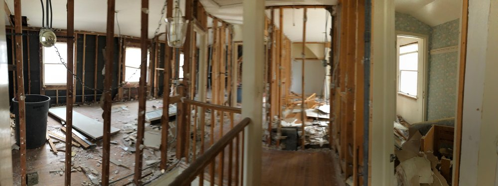 Day 1 of Demolition upstairs.