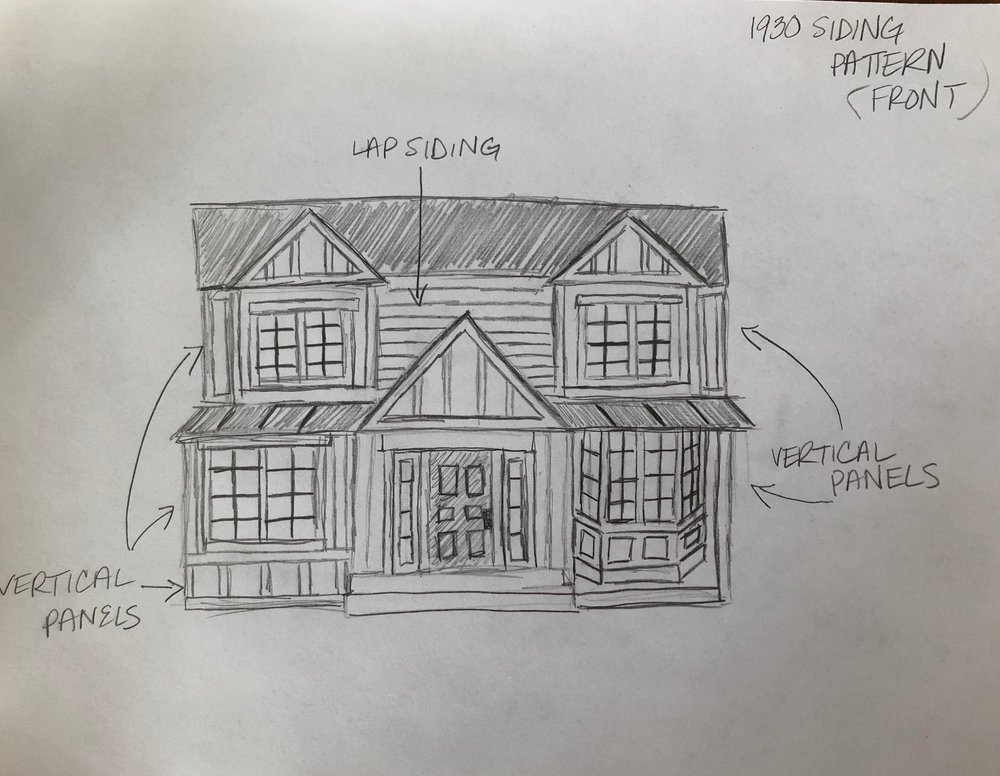 This is my vision of what the house is going to be... 2 minute sketch.