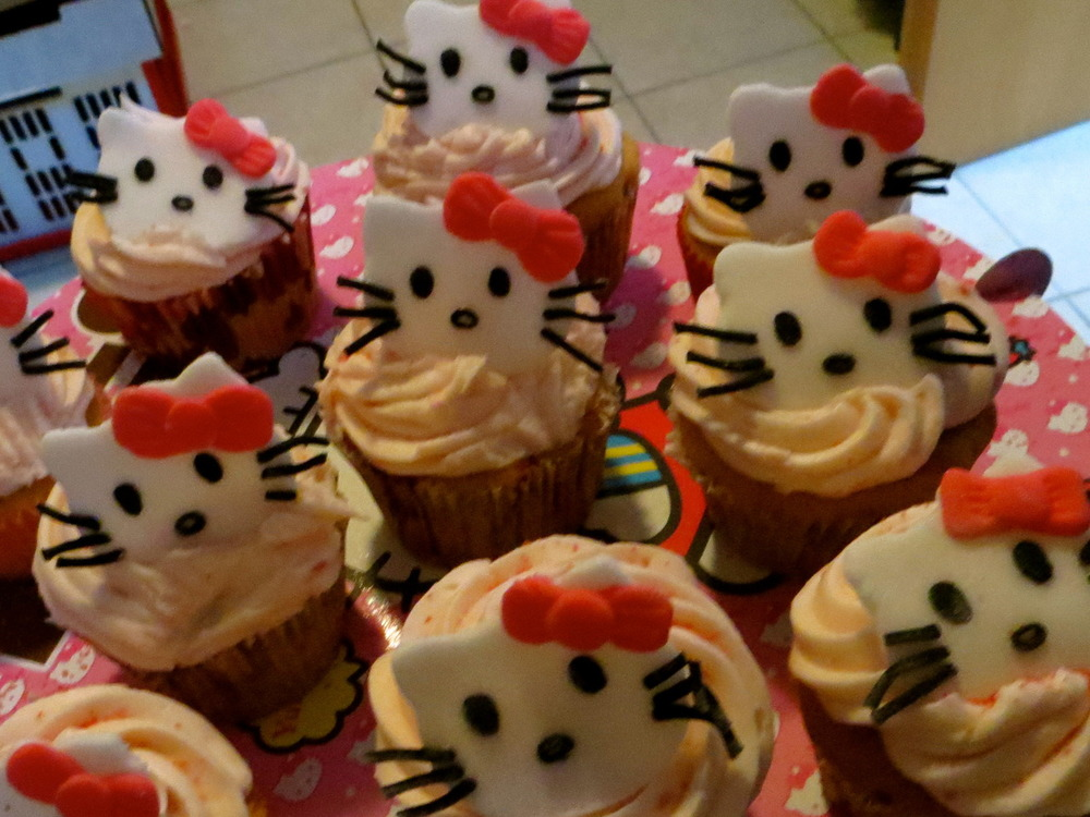 August: Hello Kitty Cupcakes