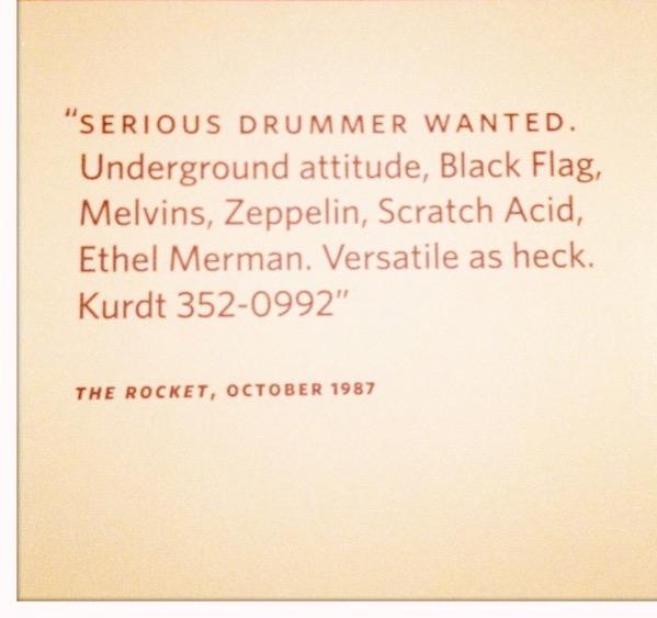 Nirvana sucht Drummer