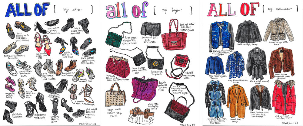 ALL OF [shoes, bags, outerwear] (commission)