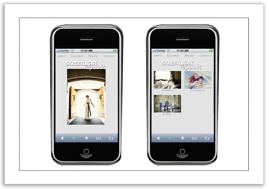 Streetlight Republic - Mobile website