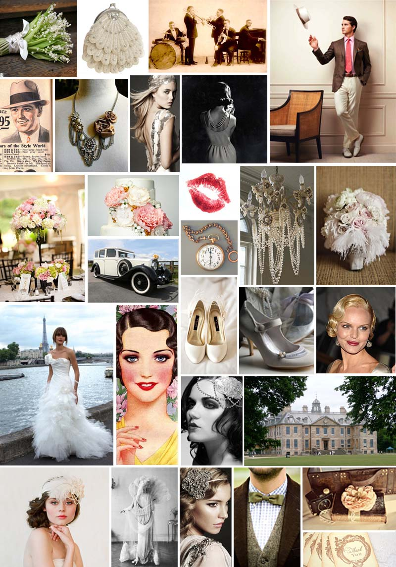 Streetlight Republic | Roaring 20s Wedding Inspiration Board