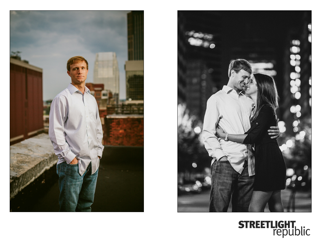 Nashville Wedding Photographers Streetlight Republic, Centennial Park Engagement photos, Nashville engagement photos