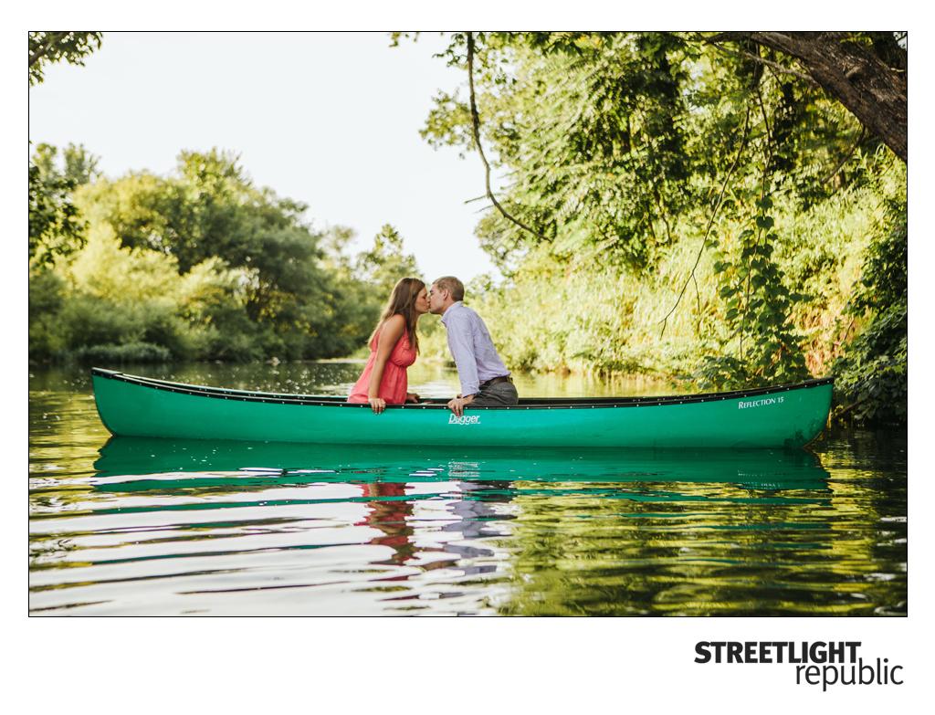 Canoe Engagement Photos, streetlight republic