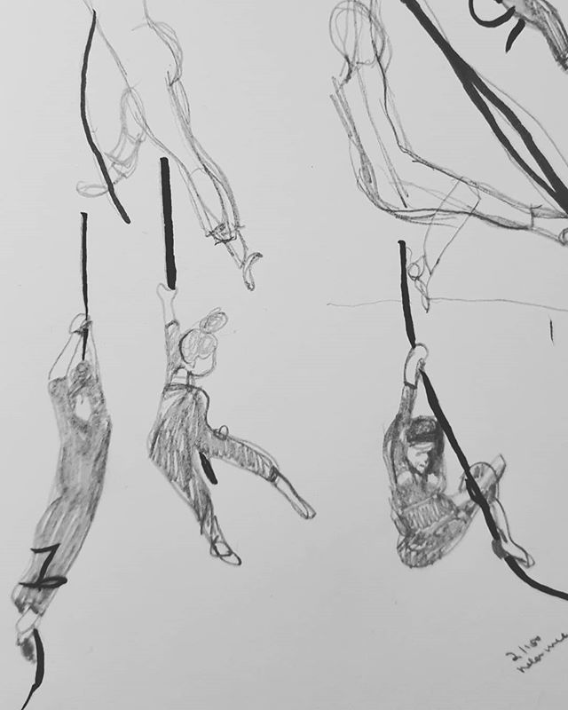 2. Rope is my favourite even though I hardly ever get to do it and it burns like crazy  #the100dayproject #100daysofdrawingaerial #draweveryday #sketchbook #pentelbrushpen