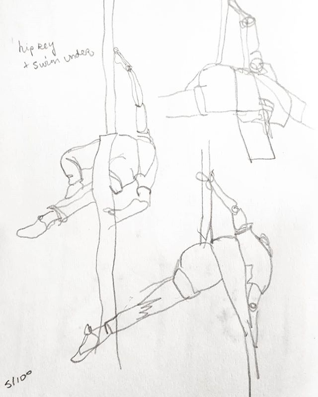 5. Hip key. Mapping out the basics through drawing is my task this week, to relearn the fundamentals so I can build a sequence #100daysofdrawingaerial #aerialsilks #the100dayproject #draweveryday #sketchbook #fitness #womenwithpencils