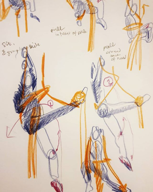 9. I love drawing with @fabercastellglobal polychromos because you can layer the colours. Feel this would work well as a riso print ___ #100daysofdrawingaerial #the100dayproject #polychromos #colour #aerialsilks #sketchbook