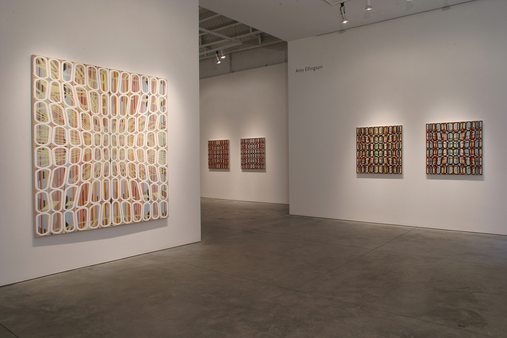 [installation]   Semper Augustus,  2004 Oil and encaustic paintings Dimensions variable