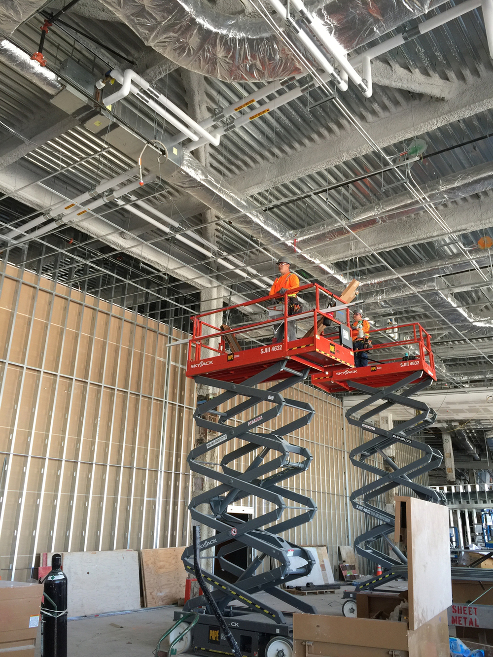 Construction in Terminal 3.