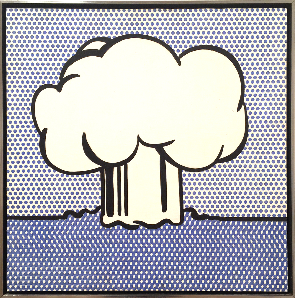 A small, but terrific, painting by Roy Lichtenstein. The museum also holds Lichtenstein's Mr. Bellamy in the collection, but I particularly enjoyed this simple yet powerful piece.