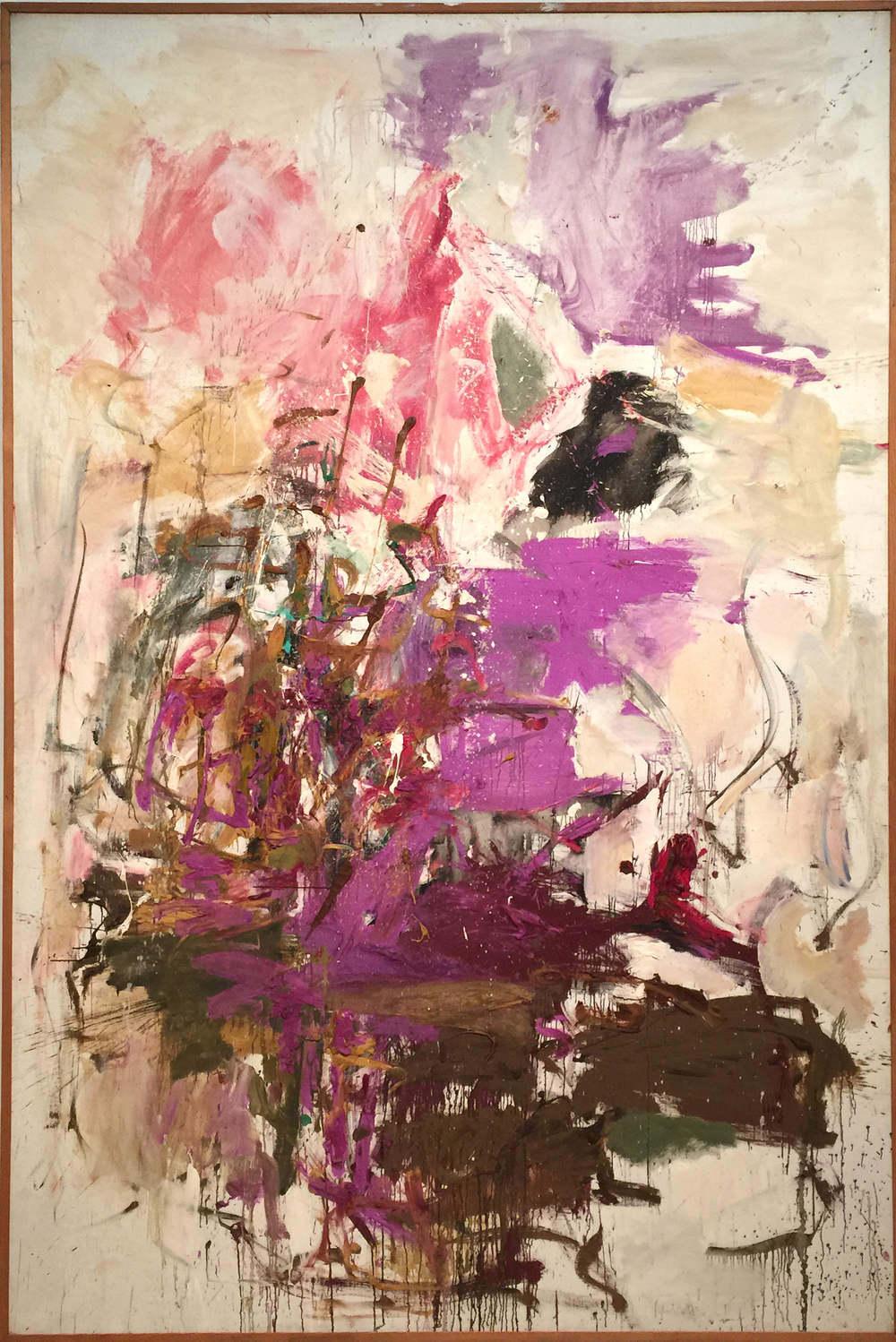 Joan Mitchell,  Untitled,  1961.  A really wonderful Mitchell with a great palette of purples and earthy golds.