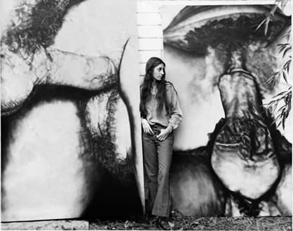 Betty Tompkins and her work, c. early 1970s.