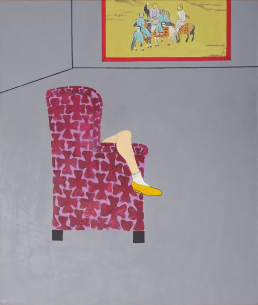 JOAN BROWN,   The Room, Part I,  1975  ,   enamel on canvas, 85.5 x 73.5 inches
