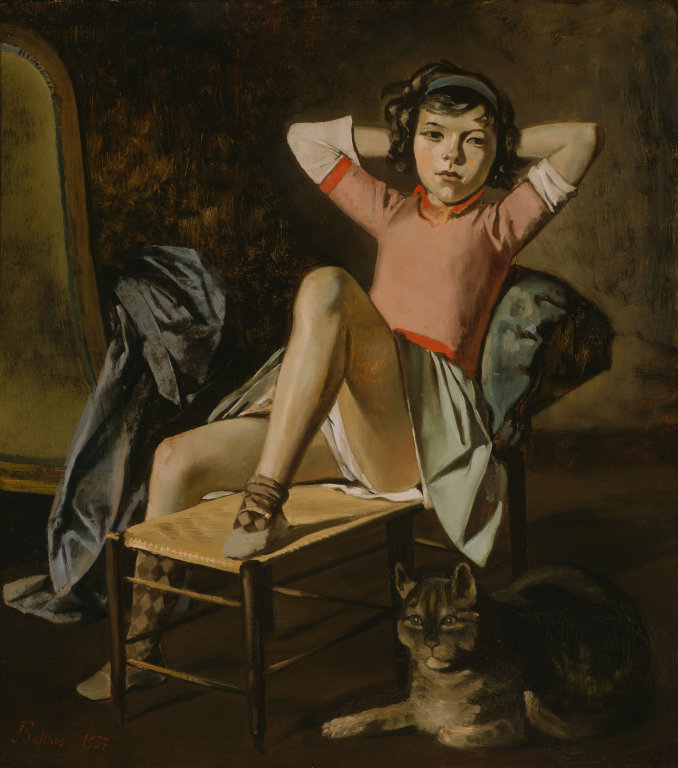BALTHUS,  Girl with Cat,  1937