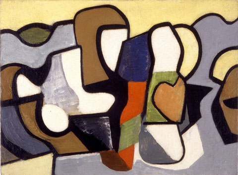Nell Blaine,  Abstraction  ,  1948