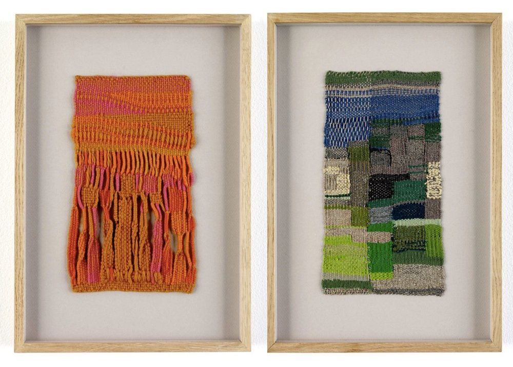 Sheila Hicks,  Zapallar , 1958, and  Cluny II , 2008