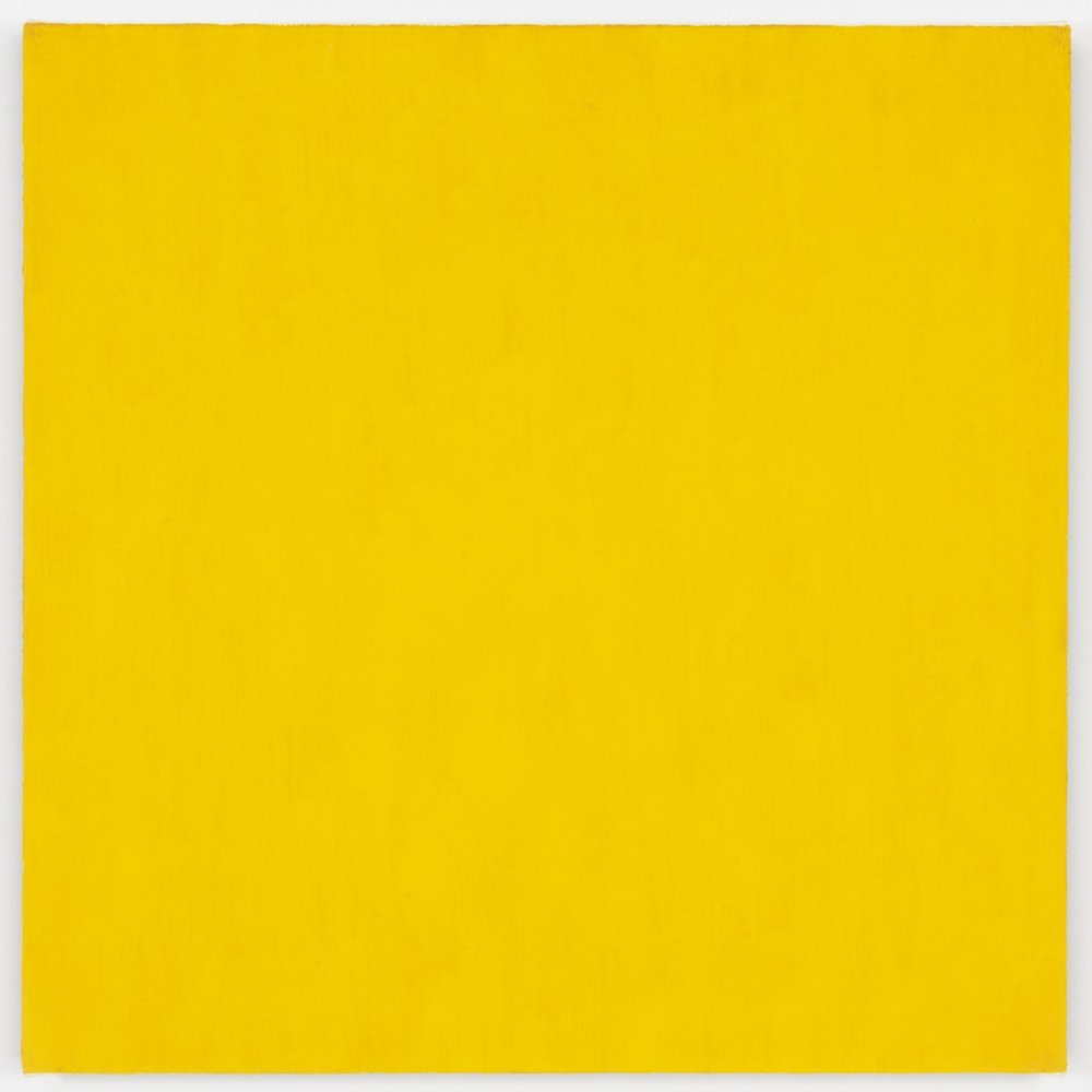 Marcia Hafif,  Mass Tone Painting: Cadmium Yellow Medium, Oct 2, 1973,  1973