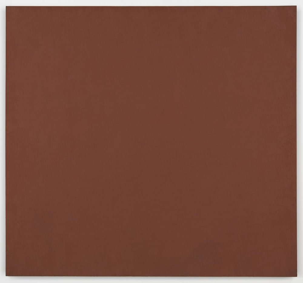 Marcia Hafif,  Mass Tone Painting: English Red, March 5, 1974,  1974