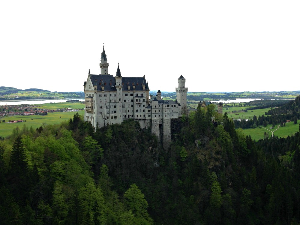 View of Neuschwanstein from Mary's Bridge