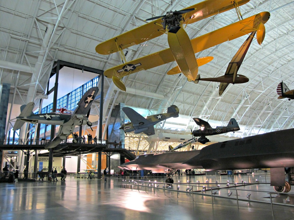 Lockheed SR-71 Blackbird on the right