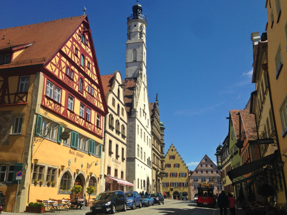 The fairy-tale town of Rothenburg