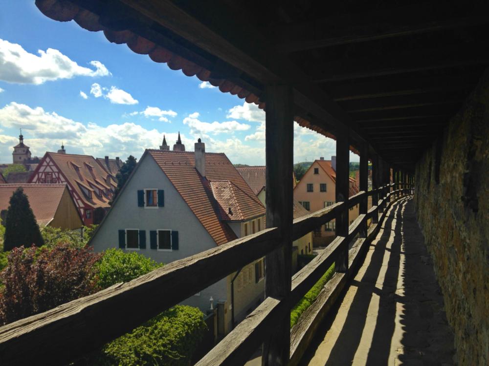 Walking the walls of Rothenburg ob der Tauber