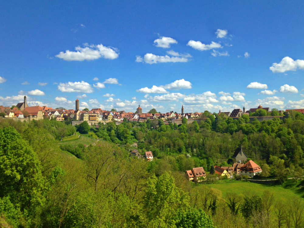 View of Rothenburg from the Castle Garden