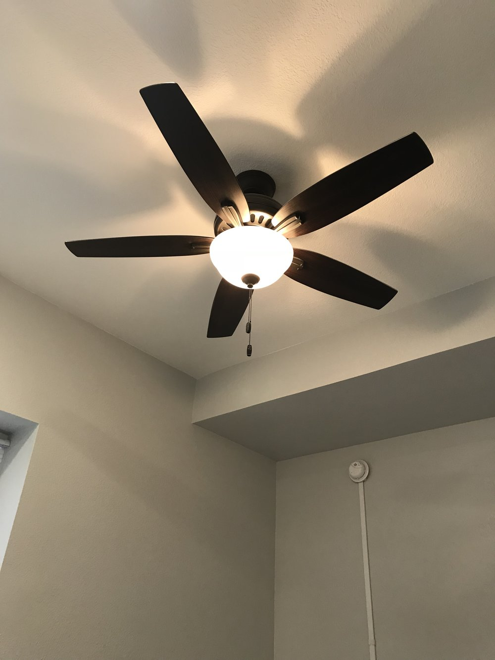 Ceiling Fans in LR and Bedroom