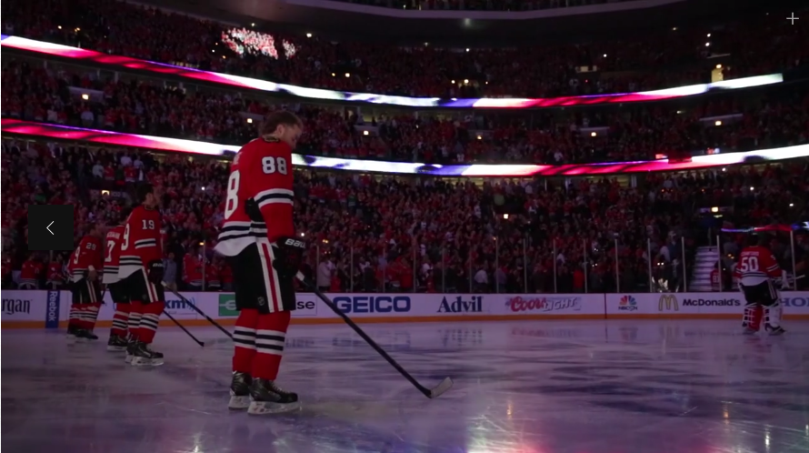 Ice level during the famous National Anthem