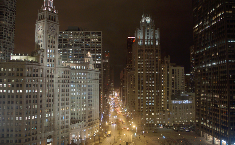Admiring Chicago from 333 N. Michigan Avenue
