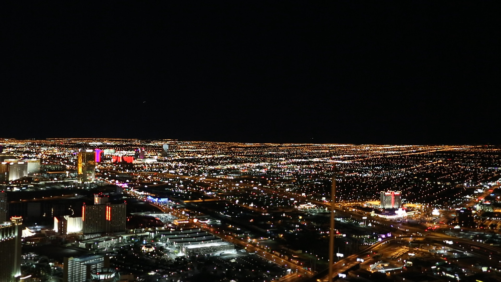 Aerial shot over the Las Vegas strip