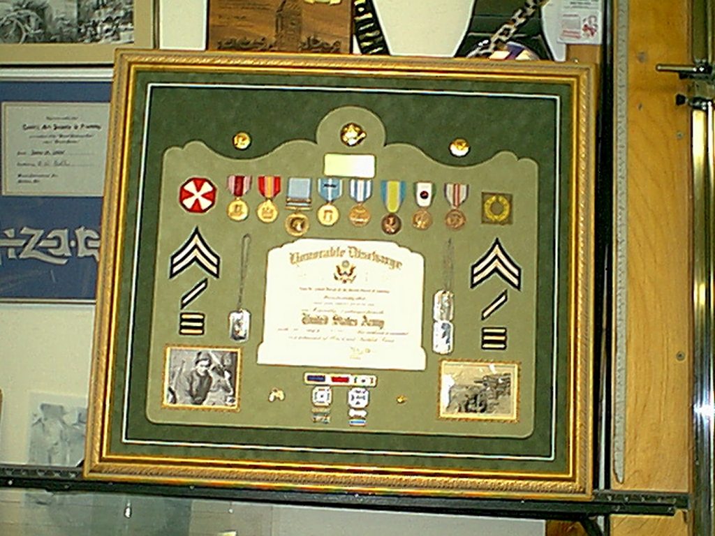 Military memorabilia cooks art supply framing korea army donatini jeuxipadfo Images