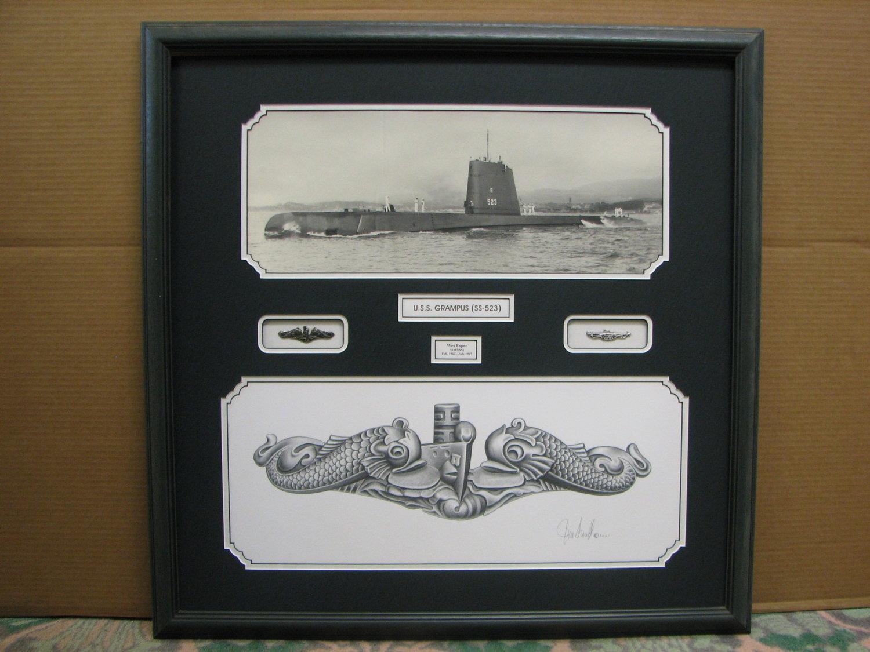 Military memorabilia cooks art supply framing navy submariner jeuxipadfo Images